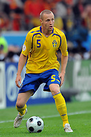 "Fredrik Stoor Svezia<br /> Innsbruck 14/6/2008 Stadium ""Tivoli Neu"" <br /> Sweden Spain - Svezia Spagna 1-2 <br /> Euro2008 Calcio Group D<br /> Sverige - Spania<br /> Norway only"