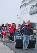 Celebrity Eclipse collecting over 2000 stranded holiday makers from Bilbao, Spain..Excited holiday makers boarding the ship for their trip back to the UK. The brand new cruise ship will dock in Southampton tomorrow..