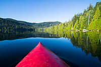 Kayaking on Lost Lake near Mount Hood, OR.