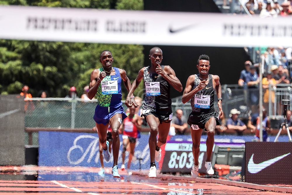 2019 The Prefontaine Classic Track & Field<br /> IAAF Diamond League2019 The Prefontaine Classic Track & Field<br /> IAAF Diamond League<br /> Selemon Barega of Ethiopia takes 3rd place and establishes new World Junior Record in Two Mile Run at 8:08.69