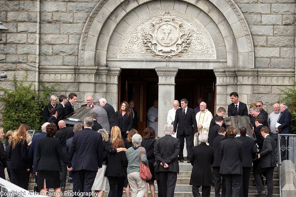 1/8/15 The funeral of Jim and Marie Quigley at the Redemptorist church in Dundalk, Jim Quigley who murdered his wife earlier this week before driving the wrong way down the M1 motorway killing himself a short-time later. Picture:Arthur Carron