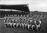 All Ireland Senior Football Championship Final, Kerry v Down, 25.09.1960, 09.25.1960, 25th September 1960, Down 2-10 Kerry 0-8, ..The Down Team ..26.09.1960, 09.26.1960, 26th September 1960..Back row (from left) James McCartan, John McAuley, Joe Lennon, Jarleth Carey, P J McElroy, Eamonn Lundy, Leo Murphy, Dan McCartan, Sean O'Neill, Kevin O'Neill, Pat Rice, Eddie Burns, Pat Fitzsimons, Kieran Denvir. Front Row (from left) John Haughian, Eddie McKay, Patsy O'Hagan, Paddy Doherty, Kevin Mussen, George Lavery, Tony Hadden, Brian Morgan, Seamus Kennedy, Eamonn Clements, James Fitzpatrick. ..All Ireland SFC - Final.Down 2-10 | Kerry 0-8.Time: Unknown, Venue: Croke Park.Referee: J. Dowling (Offaly).Captain: K. Mussen..Attendance: 87,768