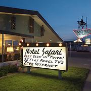 Motel Safari on Route 66 in Tucumcari, New Mexico