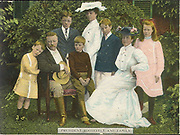 Theodore D. Roosevelt (1858-1919) 26th President of the United States of America (1901-1909) with his wife and family, c1906.