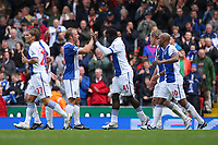 Football - Premier League - Blackburn Rovers vs. Arsenal<br /> Mame Biram Diouf of Blackburn Rovers celebrates his equlising goal at Ewood Park, Blackburn