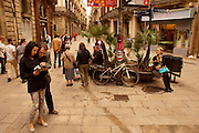 Barcelona, Spain, Historic Plaza, Tourists
