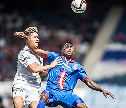 Falkirk's Kieran Duffie and Inverness Caledonian Thistle's Obere. Falkirk 1 v 2 Inverness CT, Scottish Cup final at Hampden.