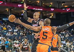 July 6, 2018 - Oakland, CA, U.S. - OAKLAND, CA - JULY 06: Dahntay Jones (1) of Trilogy looses the ball during game 1 in week three of the BIG3 3-on-3 basketball league on Friday, July 6, 2018 at the Oracle Arena in Oakland, CA  (Photo by Douglas Stringer/Icon Sportswire) (Credit Image: © Douglas Stringer/Icon SMI via ZUMA Press)