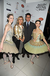 England football manager FABIO CAPELLO and his wife LAURA with dancers at a reception before the launch of the English National Ballet Christmas season launch of The Nutcracker held at the St,Martins Lane Hotel, London on 5th December 2008.