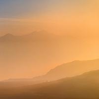 Macgillycuddy's Reeks / Carrauntoohil Sunrise Panorama, County Kerry, Ireland / ba068
