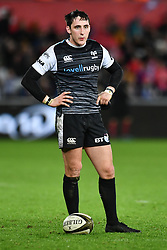 Sam Davies of Ospreys<br /> <br /> Photographer Craig Thomas/Replay Images<br /> <br /> Guinness PRO14 Round 11 - Ospreys v Scarlets - Saturday 22nd December 2018 - Liberty Stadium - Swansea<br /> <br /> World Copyright © Replay Images . All rights reserved. info@replayimages.co.uk - http://replayimages.co.uk