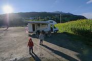 motor home vacation Dolomites, Italy