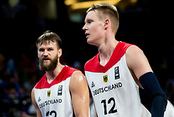 Danilo Barthel of Germany and Robin Benzing of Germany during basketball match between National Teams of Germany and France at Day 10 in Round of 16 of the FIBA EuroBasket 2017 at Sinan Erdem Dome in Istanbul, Turkey on September 9, 2017. Photo by Vid Ponikvar / Sportida