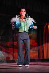 Singer performing at the Rumayor Cabaret; Pinar del Rio; Cuba,