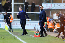 Peterborough United Caretaker-Manager, Dave Robertson celebrates the victory at full-time - Photo mandatory by-line: Joe Dent/JMP - Mobile: 07966 386802 - 07/03/2015 - SPORT - Football - Peterborough - ABAX Stadium - Peterborough United v Leyton Orient - Sky Bet League One