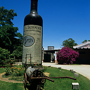 South America, Uruguay; Colonia, Entrance to a traditional family winery.