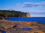Split Rock Lighthouse built in 1920 on a 130-foot cliff towering above Lake Superior, Split Rock Lighthouse State Park, Minnesota.