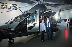 The forthcoming Airbus light defense Helicopter for military uses, 'The Guepard' has been presented in Marignane Airbus headquarters (close to Marseille) by Florence Parly, French minister of the armed forces and Bruno Even, Airbus Helicopters CEO, on May the 27, 2019. It will fly two years earlier from the initial schedule, 2026 instead of 2028. Airbus has presented the first full scale model this day. The inter army lightweight secured Helicopter program represent 2,000 Jobs for Airbus Helicopters. Photo by Clement Mahoudeau / ABACAPRESS.COM