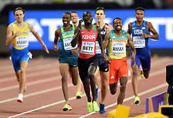 Nicholas Bett of Kenya in action - Mandatory byline: Patrick Khachfe/JMP - 07966 386802 - 06/08/2017 - ATHLETICS - London Stadium - London, England - Men's 800m Semi Final - IAAF World Championships