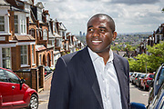 David Lammy MP of the Labour Party out meeting voters on the 7th May 2015, North London.