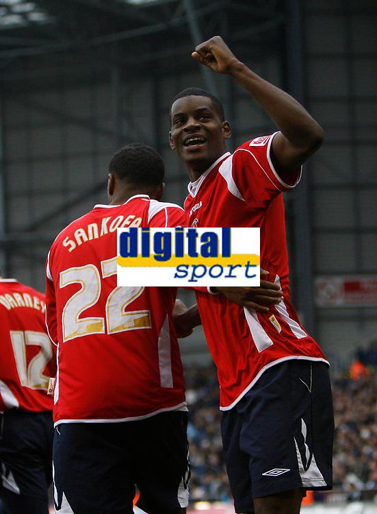 Photo: Steve Bond/Sportsbeat Images.<br />West Bromwich Albion v Charlton Athletic. Coca Cola Championship. 15/12/2007.Izale McLeod celebrates