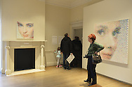 Roslyn, New York, USA. January 2, 2015. Portraits in acrylic on canvas by artist Gavin Rain are displayed in the Contemporary Art section of Nassau County Museum of Art in Long Island.