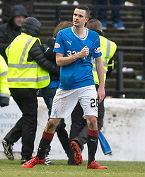 Rangers Jamie Murphy celebrates scoring his side's sixth goal of the game during the William Hill Scottish Cup, fifth round match at Somerset Park, Ayr.