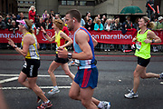 Runners in the 2010 Virgin London Marathon.