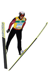 SKI NORDIC COMBINED WORLD CUP 2010..© Pierre Teyssot / Sportida.com..LAMY CHAPPUIS Jason during the stage of the nordic combined ski world cup in Val Di Fiemme, Trentino, Italy, on Saturday January the 9th 2010....