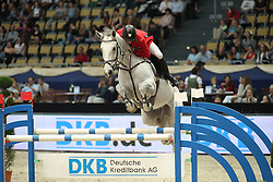 Toth Laszlo, (HUN), Isti<br /> DKB-Riders Tour<br /> Grand Prix Kreditbank Jumping München 2015<br /> © Hippo Foto - Stefan Lafrentz
