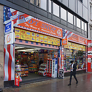 """U.S. sweets """"Candy Shop"""" dominate Oxford Street on 2021-09-10, London, UK."""