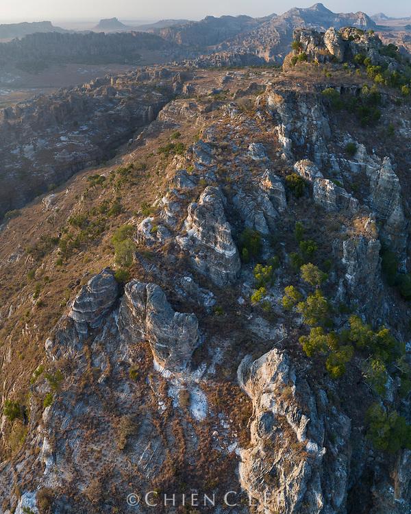 The eroded Jurassic sandstone massif of Isalo National Park, southwestern Madagascar.