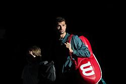 Grigor Dimitrov (BUL) during his third round match against John Isner (USA) during the Rolex Paris Masters at the Accord hotel Arena.Paris, France, Wednesday November 2, 2017. Photo by Yann Bohac/ANDBZ/ABACAPRESS.COM