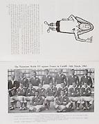 Irish Rugby Football Union, Ireland v Wales, Five Nations, Landsdowne Road, Dublin, Ireland, Saturday 17th November, 1962,.17.11.1962, 11.17.1962,..Referee- J A E Taylor, Scottish Rugby Union, ..Score- Ireland 3 - 3 Wales, ..Irish Team, ..T J Kiernan,  Wearing number 15 Irish jersey, Full Back, University college Cork Football Club, Cork, Ireland,  ..W R Hunter, Wearing number 14 Irish jersey, Right Wing, C I Y M S Rugby Football Club, Belfast, Northern Ireland, ..A C Pedlow, Wearing number 13 Irish jersey, Right Centre,  C I Y M S Rugby Football Club, Belfast, Northern Ireland, ..M K Flynn, Wearing number 12 Irish jersey, Left Centre, Wanderers Rugby Football Club, Dublin, Ireland, ..N H Brophy, Wearing number 11 Irish jersey, Left wing, London Irish Rugby Football Club, Surrey, England, ..M A English, Wearing number 10 Irish jersey, Stand Off, Landsdowne Rugby Football Club, Dublin, Ireland, ..J C Kelly, Wearing number 9 Irish jersey, Scrum Half, University College Dublin Rugby Football Club, Dublin, Ireland, ..M P O'Callaghan, Wearing number 1 Irish jersey, Forward, Sundays Well Rugby Football Club, Cork, Ireland, ..A R Dawson, Wearing number 2 Irish jersey, Forward, Wanderers Rugby Football Club, Dublin, Ireland, ..P J Dwyer, Wearing number 3 Irish jersey, Forward, University College Dublin Rugby Football Club, Dublin, Ireland, ..W J McBride, Wearing number 4 Irish jersey, Forward, Ballymena Rugby Football Club, Antrim, Northern Ireland,..W A Mulcahy, Wearing number 5 Irish jersey, Captain of the Irish team, Forward, Bective Rangers Rugby Football Club, Dublin, Ireland,  ..P J A O'Sullivan, Wearing  Number 6 Irish jersey, Forward, Galwegians Rugby Football Club, Galway, Ireland, ..C J Dick, Wearing number 8 Irish jersey, Forward, Ballymena Rugby Football Club, Antrim, Northern Ireland, ..M D Kiely, Wearing number 7 Irish jersey, Forward, Landsdowne Rugby Football Club, Dublin, Ireland, ..Welsh Team, ..G T R Hodgson, Wearing number 15 Welsh jersey, Full Back, Nea