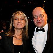 NLD/Amsterdam/20100308 - Premiere film Zwart Water, politicus Fred Teeven en partner Irma Klaassen