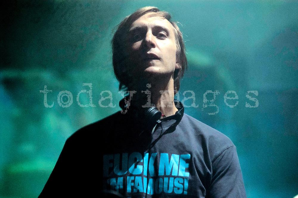David Guetta performing at the Carlsberg party in Madrid  2005