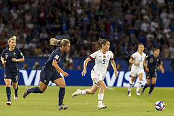 June 28, 2019 - Paris, França - PARIS, IF - 28.06.2019: FRANCE VS USA - Kelley O'Hara of the United States and Henry Amandine of France during a match between France and the United States. World Cup Qualification Football. FIFA. Held at the Parc des Princes Stadium in Paris, France  (Credit Image: © Richard Callis/Fotoarena via ZUMA Press)
