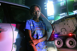 October 8, 2016 - Pasay, Philippines - Maricell Aguilar, 52 yrs. Old the wife of Wilfredo Padilla, 43 yrs. old allegedly drug user and drug dealer is the victims of summary executions of un-identified triggerman in Brgy. 7. (Credit Image: © Gregorio B. Dantes Jr/Pacific Press via ZUMA Wire)