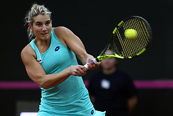 February 11, 2018 - Chieti, CH, Italy - Deborah Chiesa of Italy team during 2018 Fed Cup BNP Paribas World Group II First Round match between Italy and Spain at Pala Tricalle ''Sandro Leombroni'' on February 11, 2018 in Chieti, Italy. (Credit Image: © Danilo Di Giovanni/NurPhoto via ZUMA Press)
