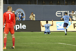 August 20, 2017 - New York, New York, United States - Jonathan Lewis (17) of NYC FC celebrates scoring goal during regular MLS game against New England Revolution on Yankee stadium NYC FC won 2 - 1  (Credit Image: © Lev Radin/Pacific Press via ZUMA Wire)