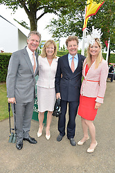 Left to right, BEN SANGSTER, FRANCES STANLEY, PETER STANLEY and LUCY SANGSTER at day 3 of the Qatar Glorious Goodwood Festival at Goodwood Racecourse, Chechester, West Sussex on 28th July 2016.