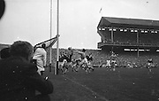 All Ireland Senior Football Final Galway v. Dublin, Croke Park..Only Goal of the Match.G. Davey (2nd from right) punches ball into net for Dublin goal. Galway Goalie M. Moore and other backs look on helplessly.22.09.1963