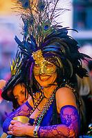 Mardi Gras, Bourbon Street, French Quarter, New Orleans, Louisiana USA
