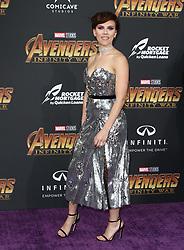 Marvel Studios Avengers: Infinity War World Premiere in Hollywood, California on 4/23/18. 23 Apr 2018 Pictured: Scarlett Johansson. Photo credit: River / MEGA TheMegaAgency.com +1 888 505 6342