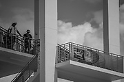 Sarasota. Florida USA.  2017 FISA World Rowing Championships, Nathan Benderson Park. Spectators, watching the spare race from the Finishing Tower<br /> <br /> Saturday  23.09.17   <br /> <br /> [Mandatory Credit. Peter SPURRIER/Intersport Images].<br /> <br /> <br /> NIKON CORPORATION -  NIKON D4S  lens  VR 300mm f/4 mm. 100 ISO 1/4000/sec. f 4