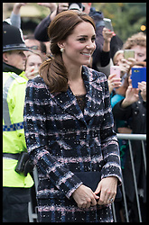 October 14, 2016 - Manchester, United Kingdom - Image licensed to i-Images Picture Agency. 14/10/2016. Manchester, United Kingdom. The Duke and Duchess of Cambridge arriving at the National Football Museum  in Manchester. Picture by Stephen Lock / i-Images (Credit Image: © Stephen Lock/i-Images via ZUMA Wire)