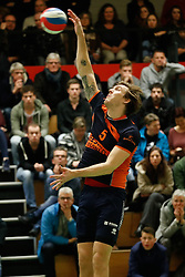 20170125 NED: Beker, Sliedrecht Sport - Seesing Personeel Orion: Sliedrecht<br />Joris Marcelis (5) of Seesing Personeel - Orion<br />©2017-FotoHoogendoorn.nl / Pim Waslander