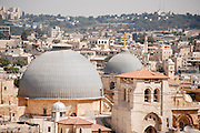 Israel, Jerusalem, Old City, roof of the Church of the Holy Sepulchre