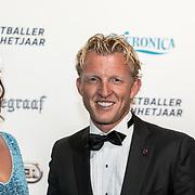 NLD/Hilversum/20190902 - Voetballer van het jaar gala 2019, Dirk Kuyt en partner Gertrude Kuyt