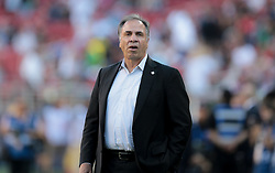 July 26, 2017 - Santa Clara, CA, USA - Santa Clara, CA - Wednesday July 26, 2017: Bruce Arena during the 2017 Gold Cup Final Championship match between the men's national teams of the United States (USA) and Jamaica (JAM) at Levi's Stadium. (Credit Image: © John Dorton/ISIPhotos via ZUMA Wire)